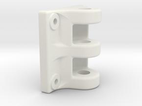 10444 Drawhead #2 in White Natural Versatile Plastic