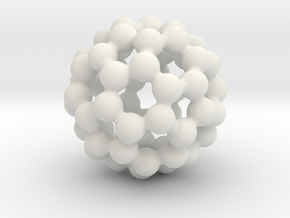 C60 - Buckyball - L in White Natural Versatile Plastic