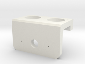 Heavy Duty Servo Mount for Ultrasonic Sensor in White Natural Versatile Plastic