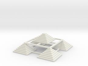 Pyramid 5 Small W in White Natural Versatile Plastic