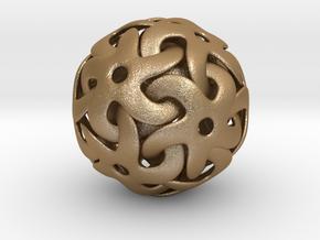 Starball Pendant in Matte Gold Steel