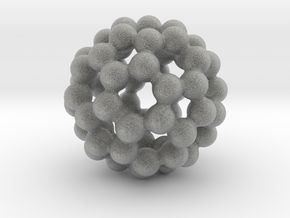 C60 - Buckyball - L - Steel in Metallic Plastic