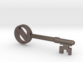 The Key in Polished Bronzed Silver Steel