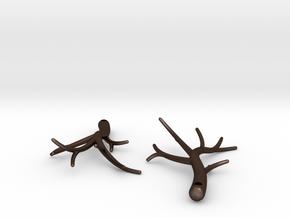 Twiggy Earrings in Matte Bronze Steel