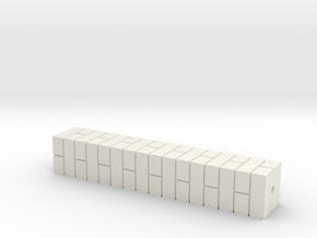 7mm Single Brick Pier in White Natural Versatile Plastic