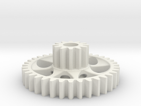 twin spur gear light in White Natural Versatile Plastic