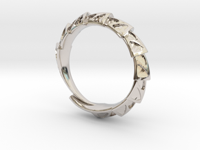 Carapace Ring in Platinum