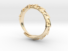 Carapace Ring in 14K Yellow Gold
