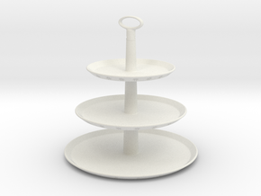 Cake Tray - 3 Tier - Assembly in White Natural Versatile Plastic