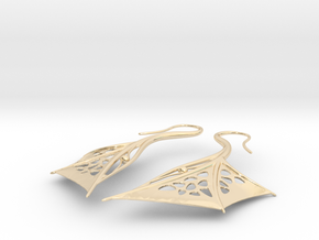 Wing Earrings in 14K Yellow Gold