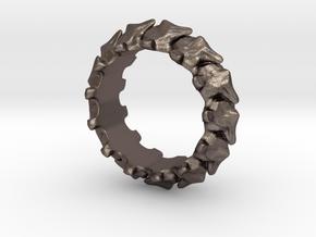 Vertebrae in Polished Bronzed Silver Steel