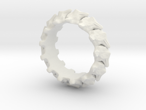 Vertebrae in White Natural Versatile Plastic