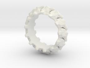 Vertebrae in White Natural Versatile Plastic