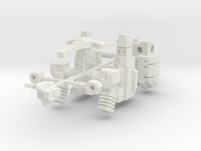 Barrage Bot in White Natural Versatile Plastic