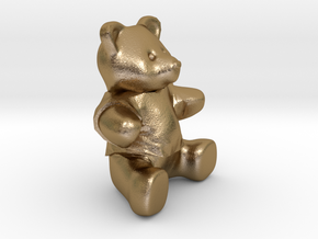 Nounours - Teddy Bear in Polished Gold Steel