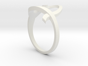 Continuous Heart Ring in White Strong & Flexible