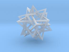 interlocked pyramids in Smooth Fine Detail Plastic