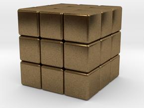 Twistopoly: 3x3x3 in Natural Bronze