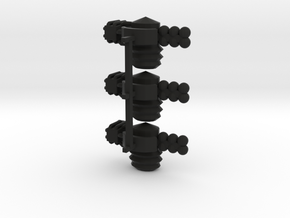 8 Satellite Type 3 x3 in Black Strong & Flexible
