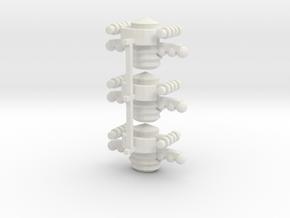 8 Satellite Type 2 x3 in White Strong & Flexible