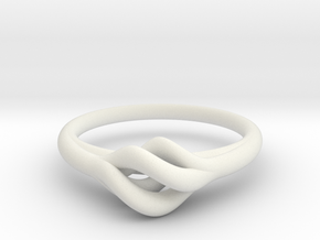 Twist Ring in White Strong & Flexible
