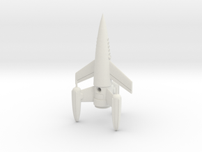 "R-Rocket ""Earth""-Class Small in White Natural Versatile Plastic"