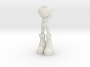 torso with legs 02 in White Natural Versatile Plastic