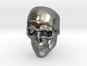 Mammoth Skull Ring! in Polished Silver