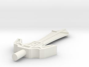 Menacing Blade in White Natural Versatile Plastic