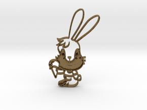 Yum Bunny Pendant in Natural Bronze