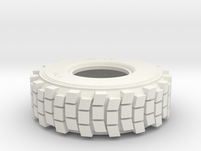 TIRE, HEMTT, 1/35 Hollow in White Natural Versatile Plastic