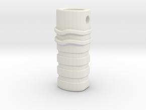 Ciondolo C1 in White Natural Versatile Plastic