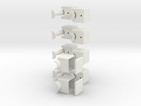 1x2x5 Cuboid in White Natural Versatile Plastic