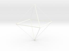 Oktaeder 6 cm in White Processed Versatile Plastic