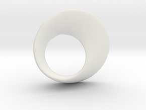 Möbius ring in White Natural Versatile Plastic