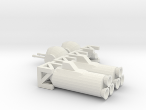 Tube Ship Modules in White Natural Versatile Plastic