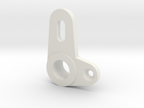 F2007 Steering knuckle with 8.2 mm axel in White Strong & Flexible