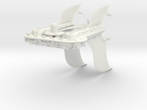 M-Ships Faction 3 Cruiser in White Strong & Flexible