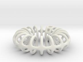 Ring-o-rings (2mm) in White Natural Versatile Plastic