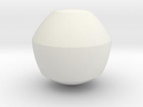 Reuleaux Heptagon Spheroform in White Natural Versatile Plastic