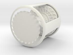 Wormhole in White Natural Versatile Plastic