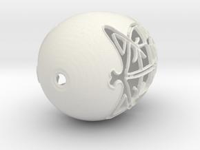 Easter Egg 2 in White Natural Versatile Plastic