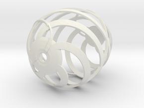 Easter Egg Spiral 2 in White Natural Versatile Plastic