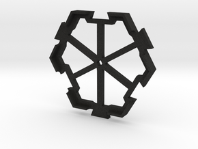 board game hexagon holder in Black Acrylic