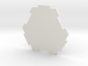 board game hexagon in White Natural Versatile Plastic