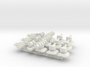 Modular Turrets (15) in White Natural Versatile Plastic