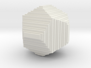 dodecahedron from cubes in White Natural Versatile Plastic