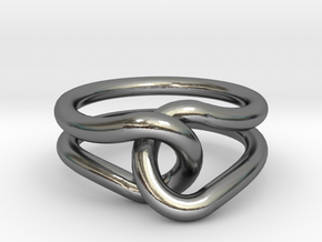 Rubber Band Ring in Polished Silver