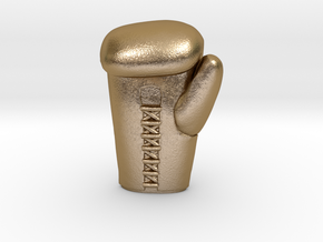 boxing glove in Polished Gold Steel