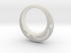 Armadillo Wave Bangle in White Natural Versatile Plastic
